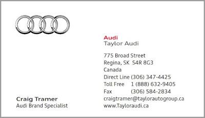 Craig Tramer Taylor Audi Regina