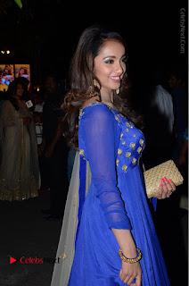Telugu Actress Tejaswi Madivada Pos in Blue Long Dress at Nanna Nenu Na Boyfriends Audio Launch  0076.JPG