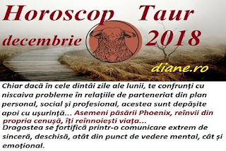 Horoscop Taur decembrie 2018