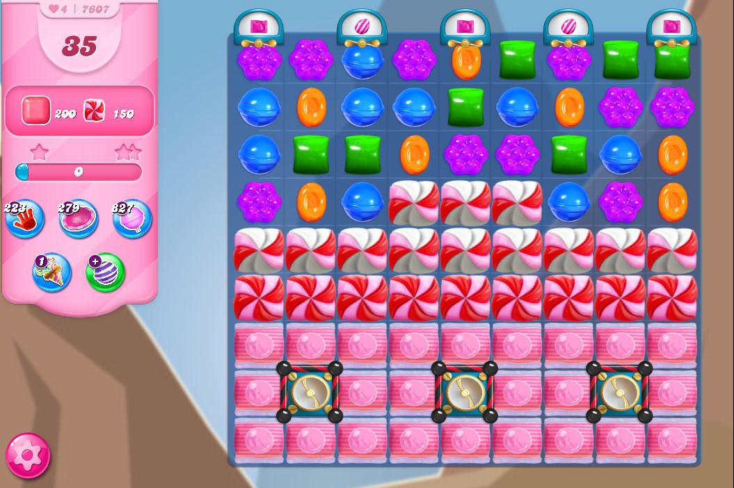 Candy Crush Saga level 7607