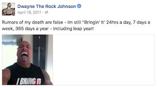 Is Dwayne The Rock Johnson Dead?