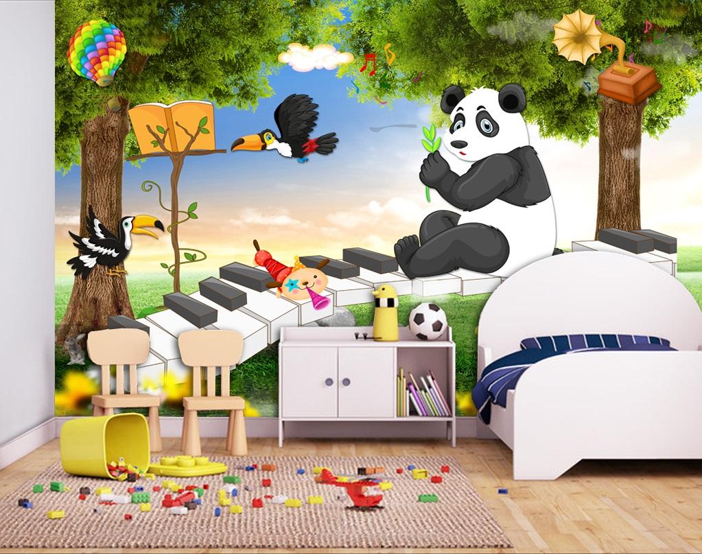 Tranh dán tường 3d phong cảnh trang trí phòng cho bé yêu