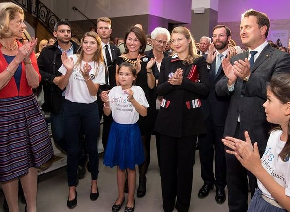 Hereditary Grand Duchess Stéphanie at the celebrations of 40th anniversary of Les Amis des Musées Luxembourg