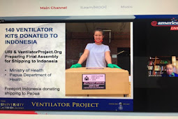University of Rhode Island Gandeng Freeport Kirim Ventilator ke Papua