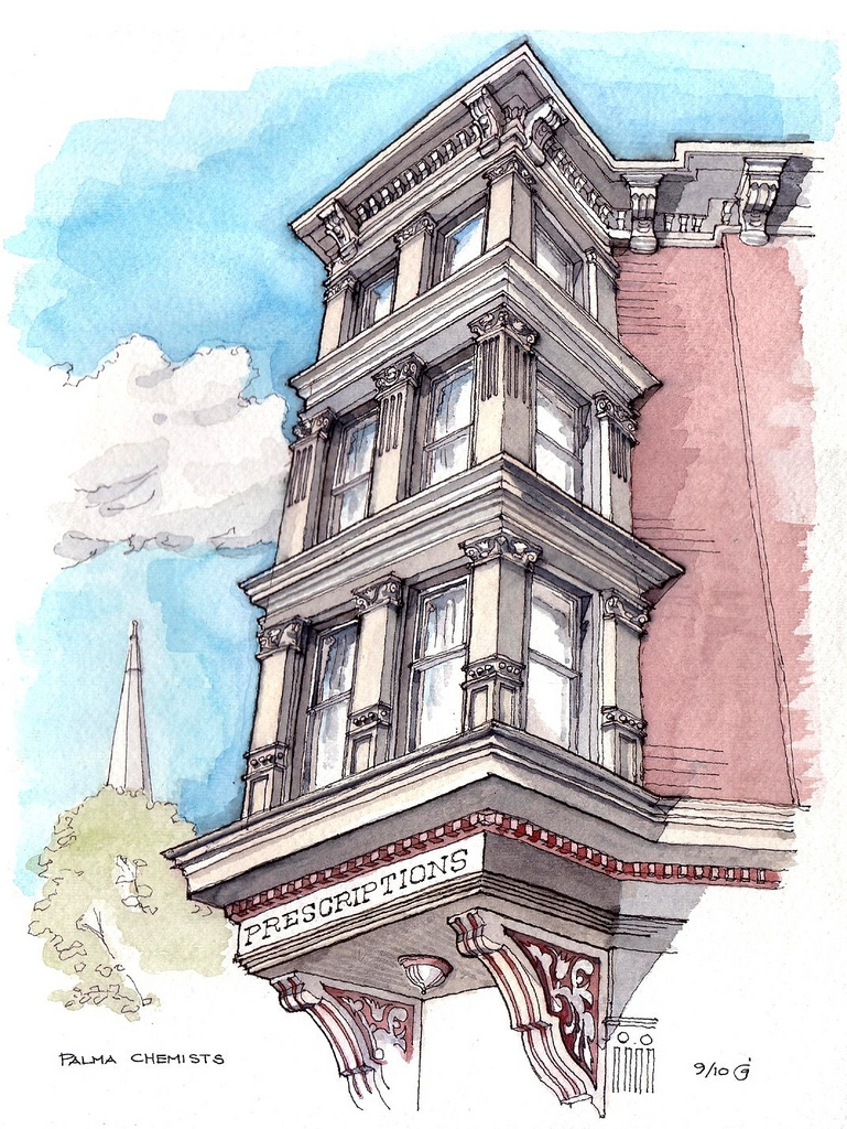 04-Palma-Chemists-James-Anzalone-Freehand-Sketches-of-Park-Slope-Brooklyn-USA-www-designstack-co