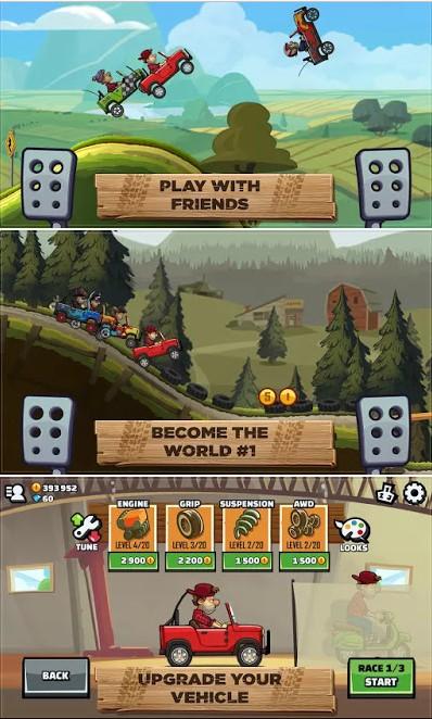 تحميل لعبة Hill Climb Racing 2 معدلة و مفتوحة للاندرويد