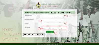 How to Verify National Open University NYSC Senate Lists or its equivalents NYSC