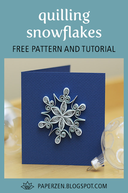 quilling snowflake pattern template card