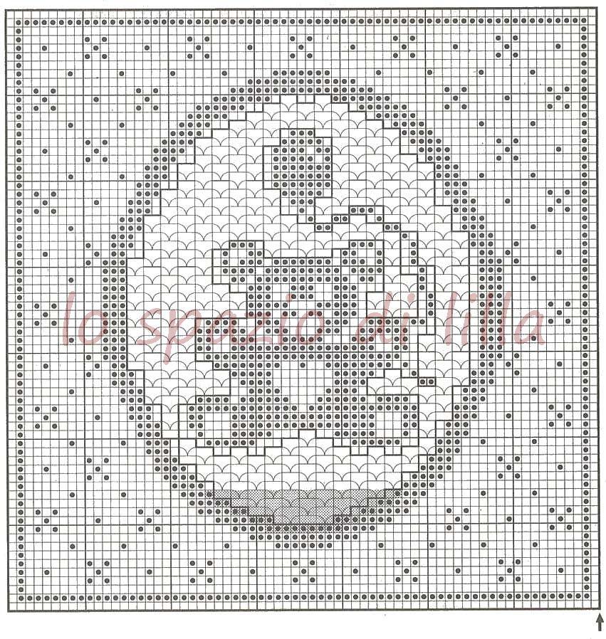 Molto lo spazio di lilla: Schemi di orsetti a filet per le copertine da  OL78