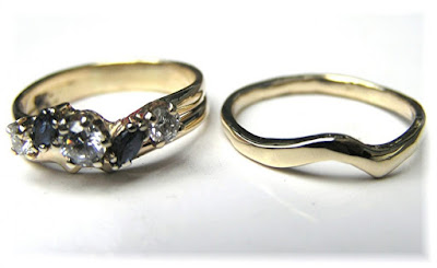 Curved Wedding Band To Fit Engagement Ring