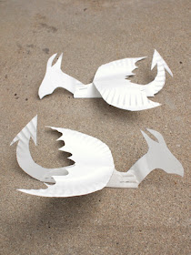 Easy paper plate dragon craft- assemble your dragons and get ready to paint