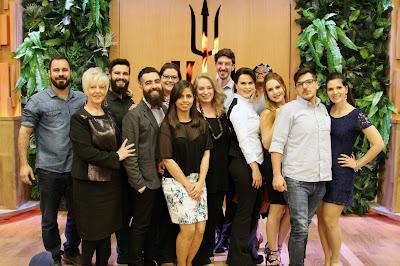 """Os convidados, participantes do """"Bake Off Brasil"""". Crédito: Gabriel Gabe/SBT"""