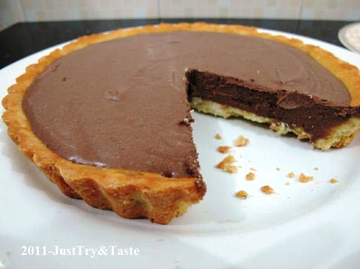 Resep Tart Coklat Sutera (French Silk Chocolate Tart)