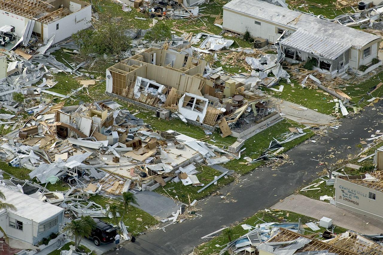 devastation from a hurricane