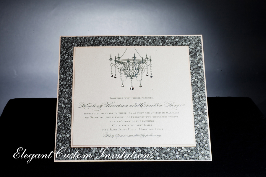 Checkerboard Wedding Invitations: Boxed Wedding Invitations