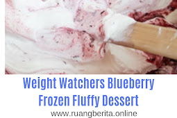 Weight Watchers Blueberry Frozen Fluffy Dessert