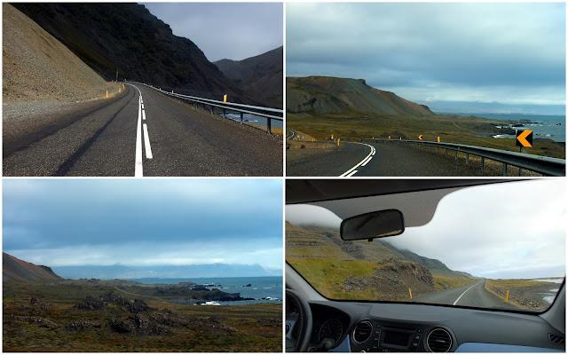 carretera por los fiordes del Este de Islandia