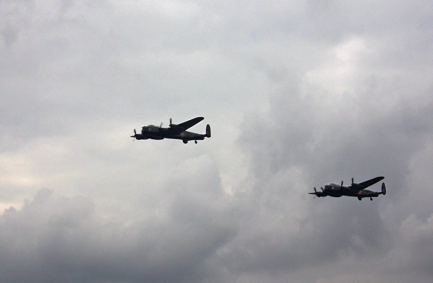 Duxford Airshow September 14th 2014 - AVRO Lancaster Bombers Thumper and Vera