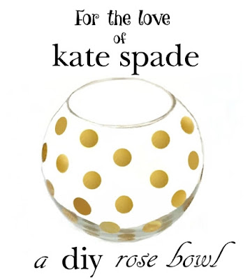 How to make a kate spade pearl place inspired rose bowl or vase using dollar store glass.