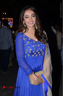 Telugu Actress Tejaswi Madivada Pos in Blue Long Dress at Nanna Nenu Na Boyfriends Audio Launch  0093.JPG