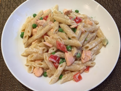 Creamy Salmon Pasta syn-free in a bowl