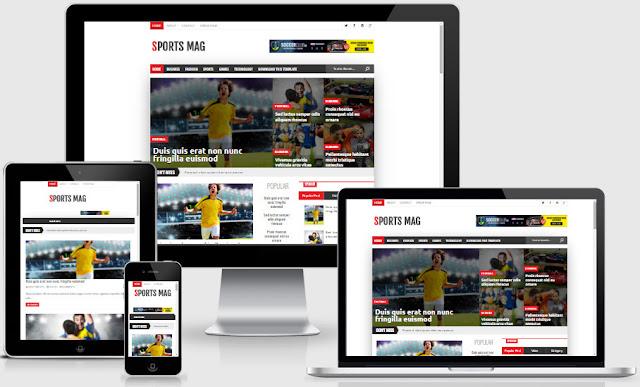 SportsMag Responsive Blogger Templates