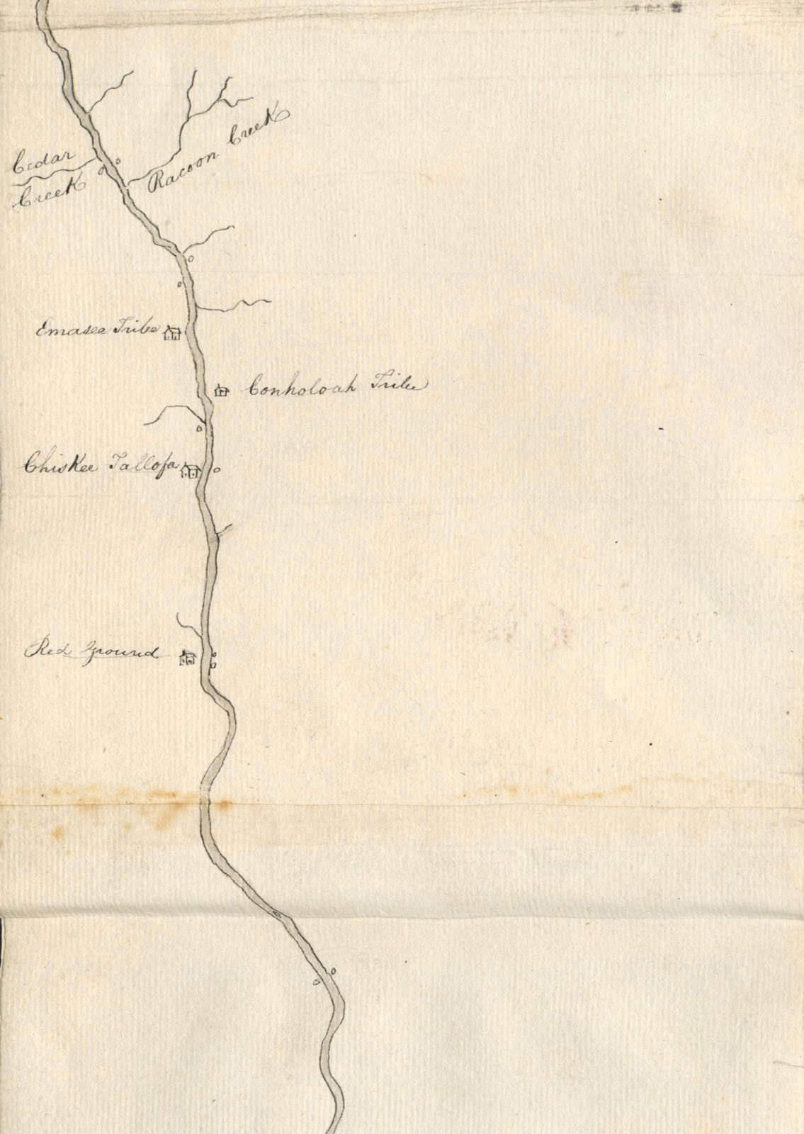 Jackson County Florida Newly Discovered Map Shows Key Creek - Georgia map key