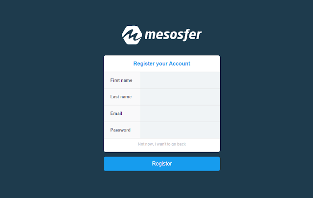 Register akun baru di Mesosfer