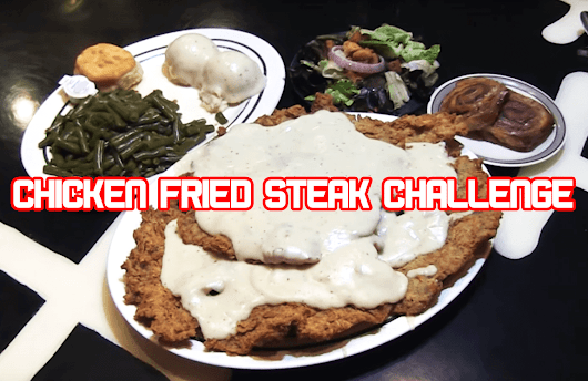 THIS CHICKEN FRIED STEAK MEAL LOOKS AMAZING BUT CAN HE REALLY EAT IT ALL?