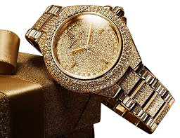 829c3e2461e8 ... Michael Kors Women s Camille MK5720 Gold Stainless-Steel Fashion Watch.  It is literally encrusted with Swarovski crystals to make a statement and  loaded ...