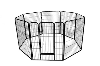Shelter dog exercise pen for potty training