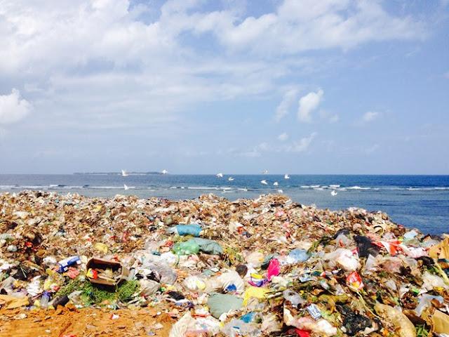 Bãi rác ở đảo Lý Sơn.