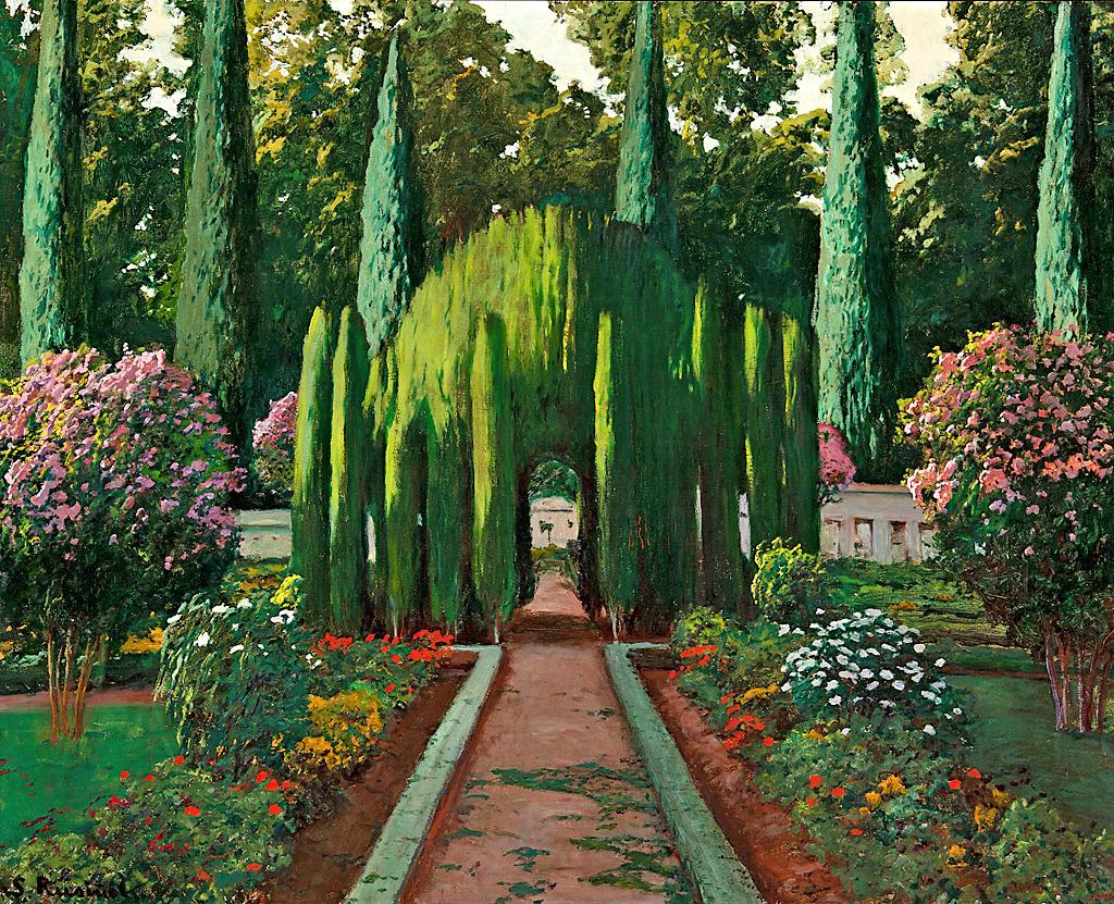 Santiago rusi ol la glorieta de los cipreses del jard n del pr ncipe - Jardin del principe aranjuez ...