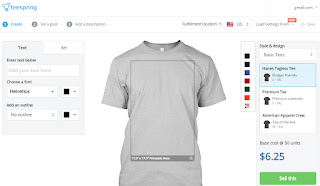 How To Make Money With Teespring Without Investing:Design And Sell