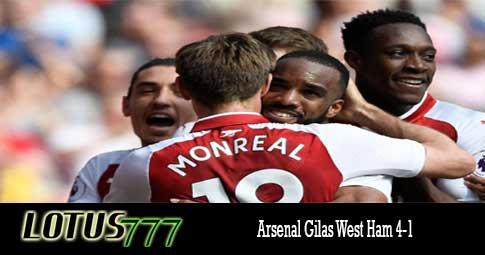 Arsenal Gilas West Ham 4-1
