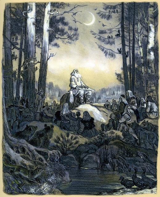 Εικονογράφηση για την φινλανδική Καλεβάλα του Nicolai Kochergin