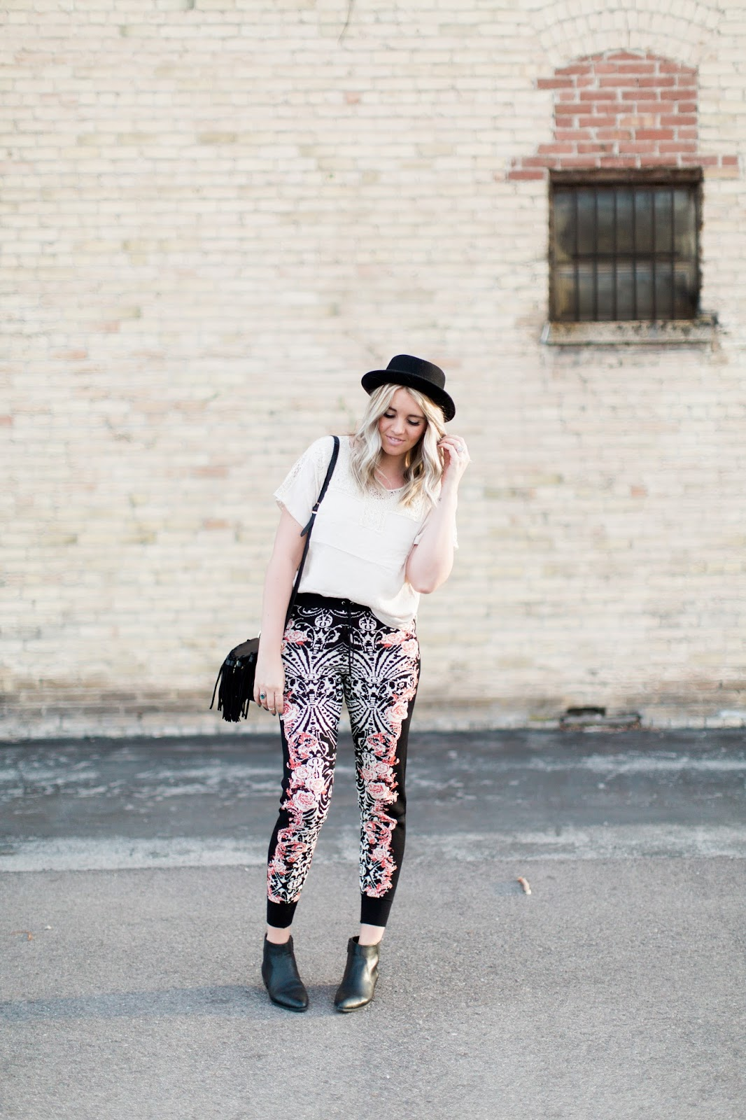 Harper Trends, Printed Joggers, How to Style Joggers