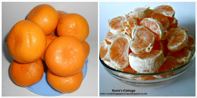 Preparing large satsumas for frozen smoothie bags