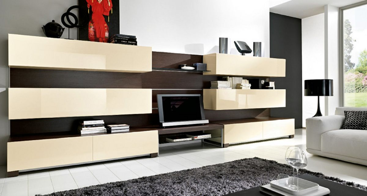 Modern Furniture: Modern Living Room Cabinets Designs