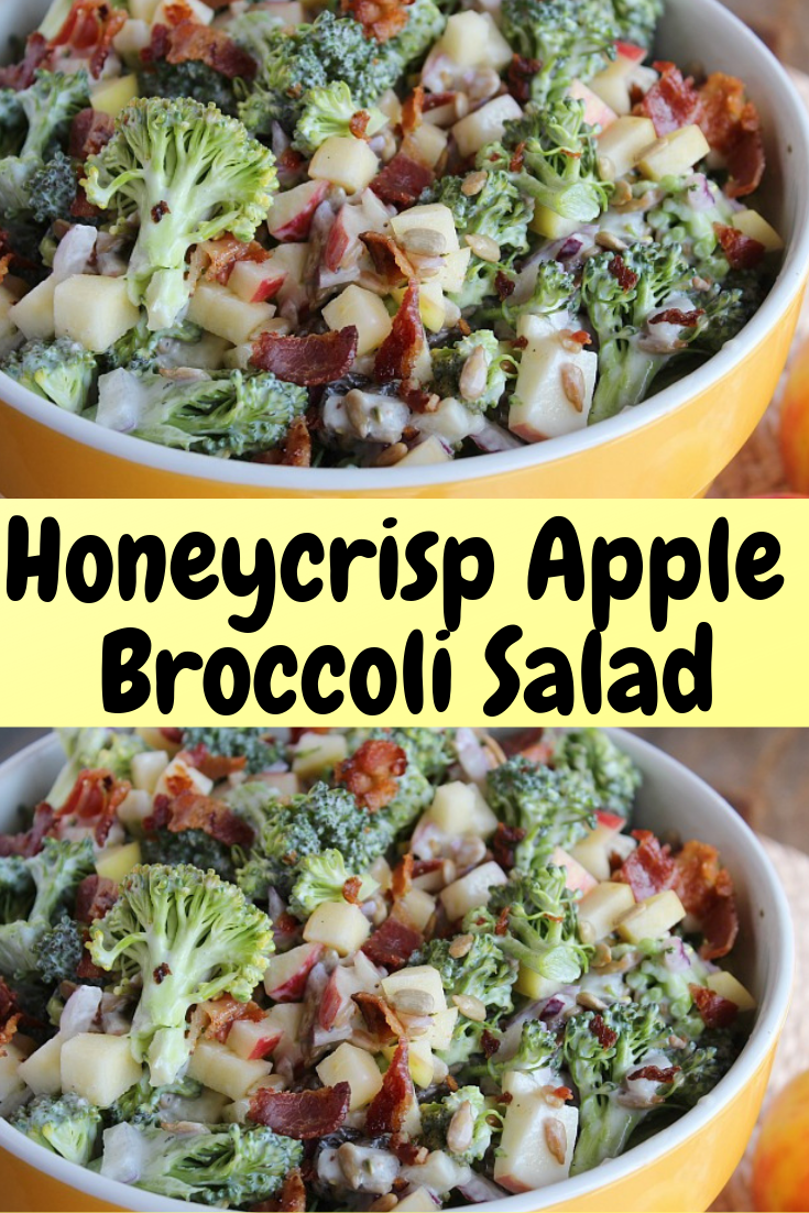 Honeycrisp Apple & Broccoli Salad #Honey #Honeycrisp #Apple #Broccoli #Salad #Healthyfood #Healthyrecipe #Healthydinner