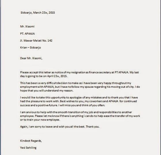 Kebo Unik Cara Menulis Surat Resign Pengunduran Diri