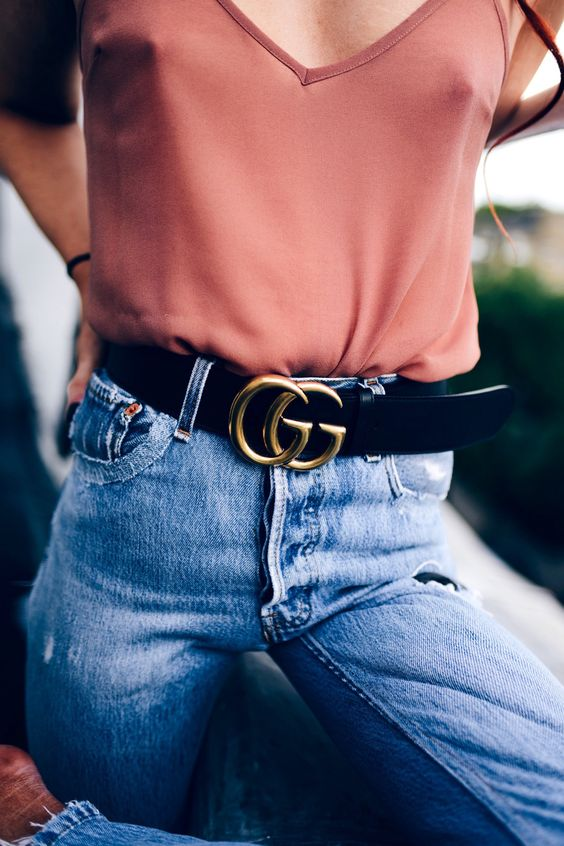 Lorna Luxe Gucci Double Logo Belt