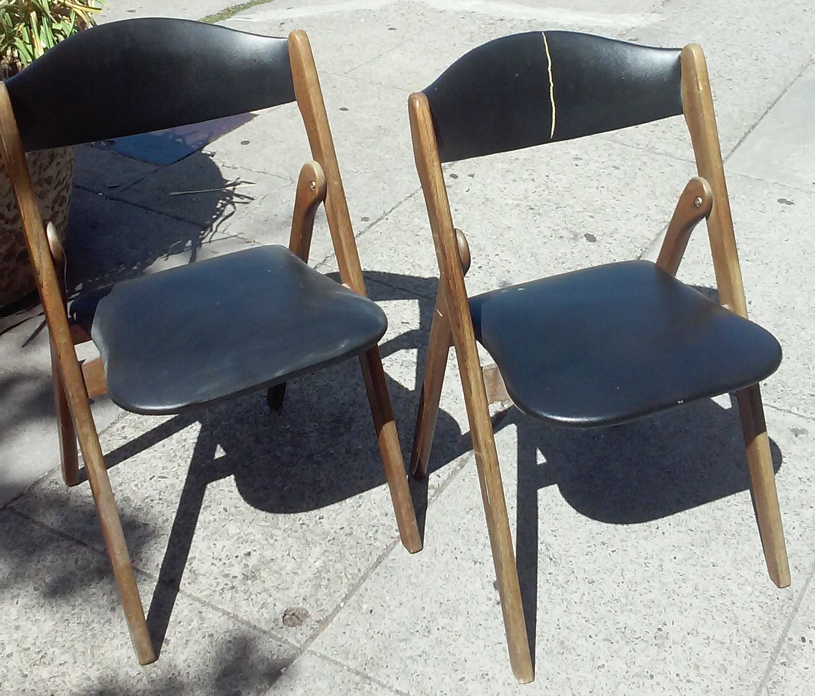 Coronet Folding Chairs Diy Dining Uhuru Furniture Collectibles Sold 5864 Wonderfold Vintage 35 Pair