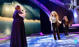 Rosario, Irene y Mayte cantan Gloria A Ti. Semifinal La Voz