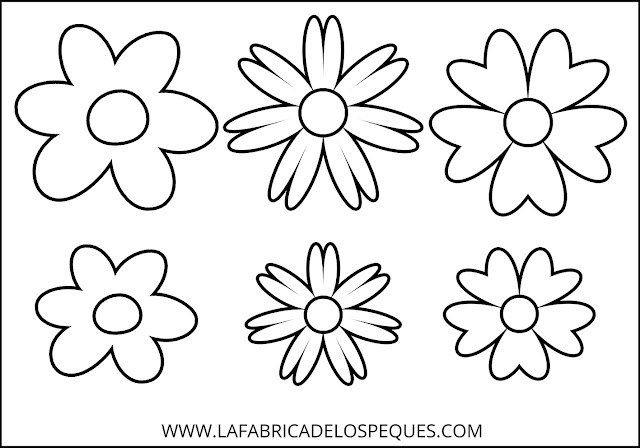Moldes flores hojas manualidades
