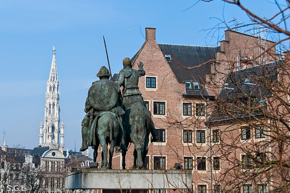 Estauta de Don Quijote en Bruselas