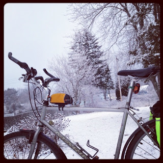 Take a bike right in snow weather condition