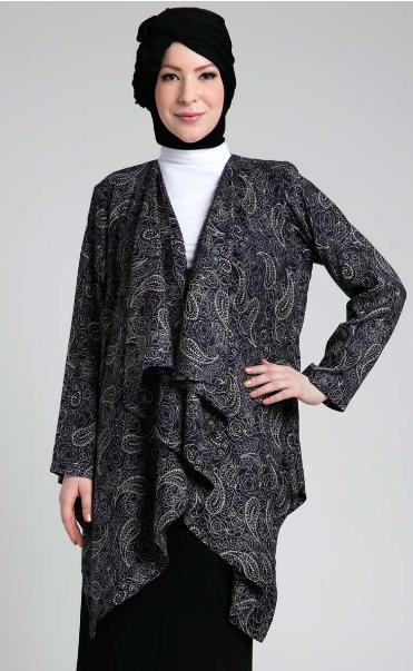 Model Busana Muslim Batik Blazer Untuk Ibu Hamil