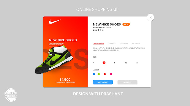 ONLINE SHOPPING PURCHASE UI | DESIGN WITH PRASHANT