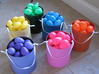 Color coded easter egg hunt